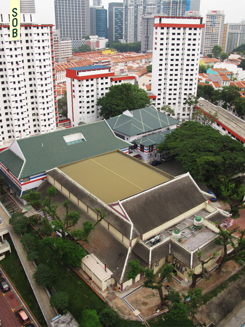 Aerial view of Kreta Ayer People's Theatre