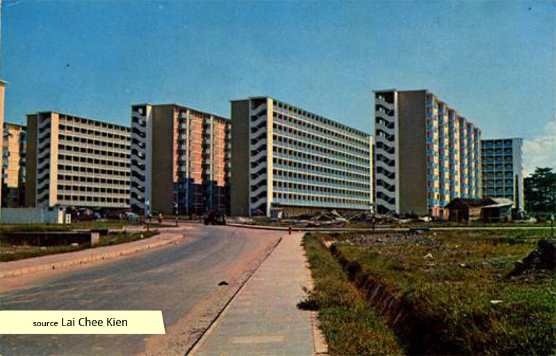 Historic photo of Tanglin Halt Estate flats