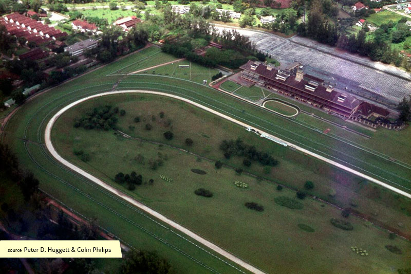 Aerial view of Singapore Turf Club in 1965