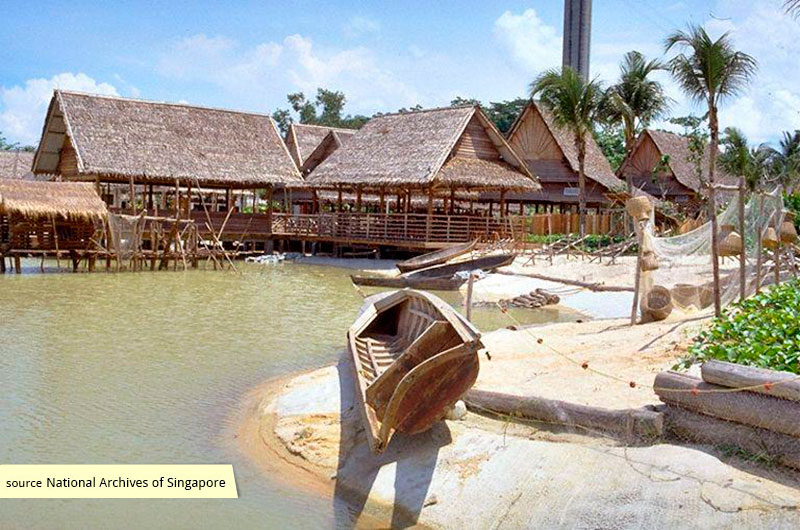Simulation of a vernacular fishing village at Asian Village, Sentosa, Singapore