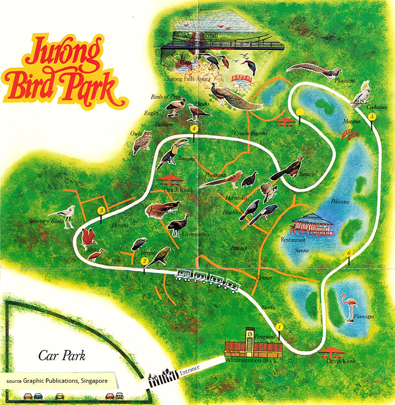 Jurong Bird Park visitor map