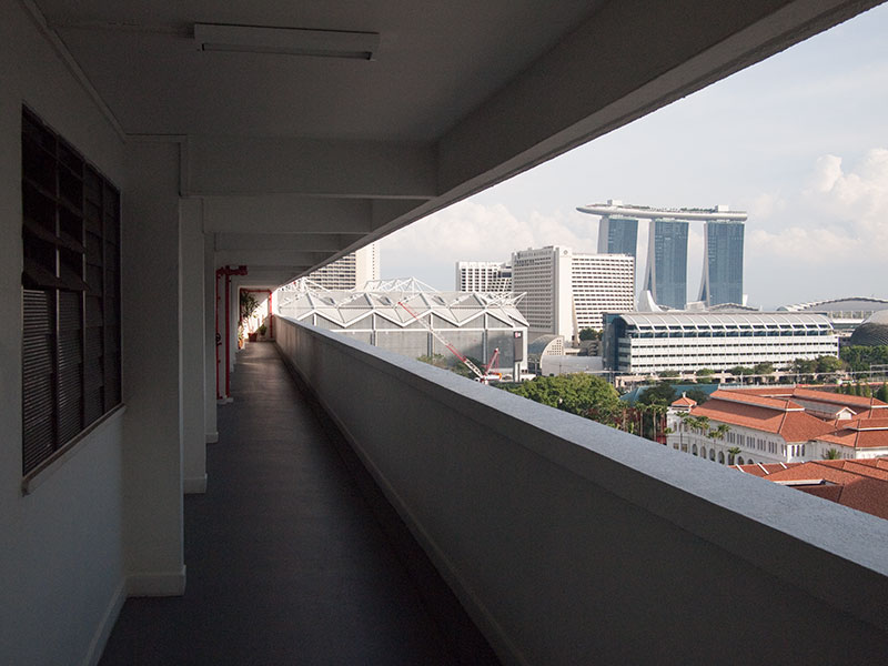 View from Bras Basah Complex towards Marina Bay